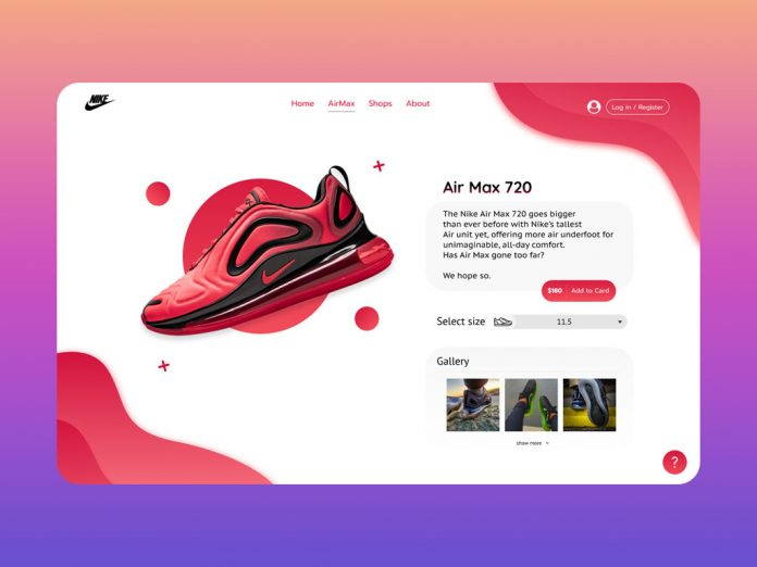 Nike Air Max web design concept by Alexander Zh