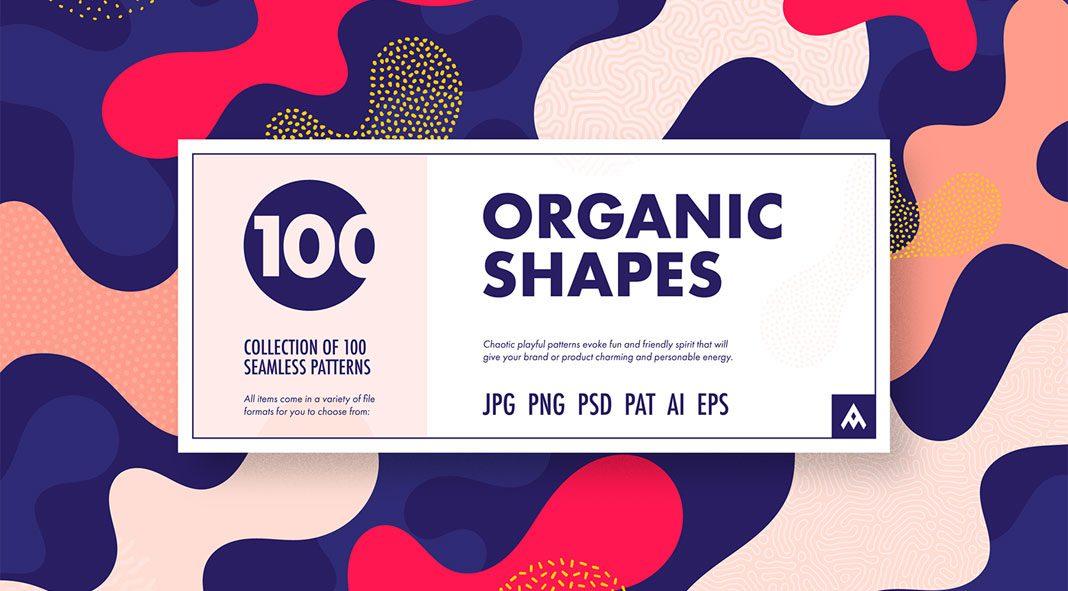 Organic Shapes: 100 seamless patterns collection by Arseny Samolevsky