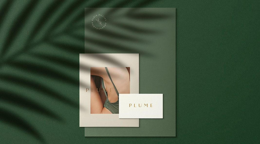 Plumere animated stationery mockups
