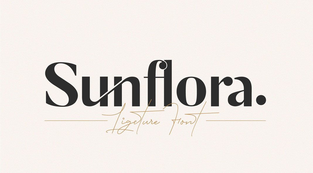 Sunflora Ligature Font
