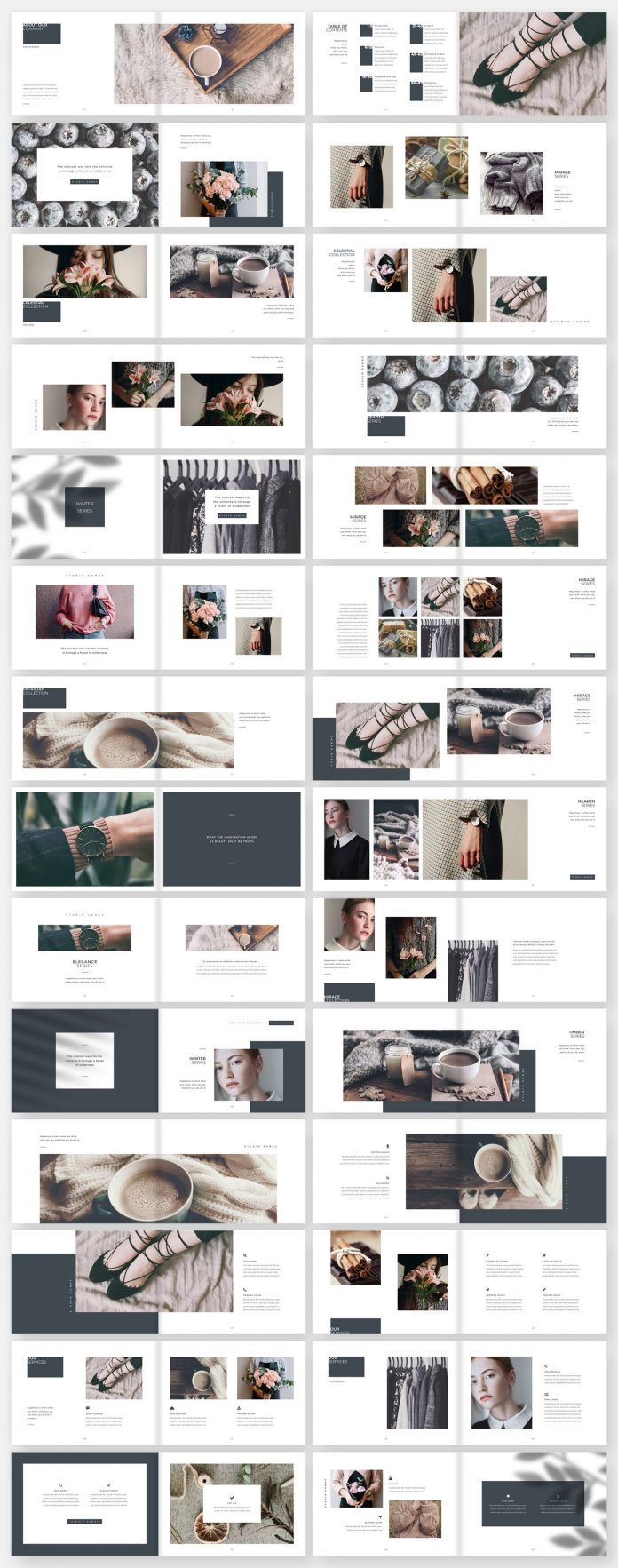 Hickory: Adobe InDesign Brochure Template