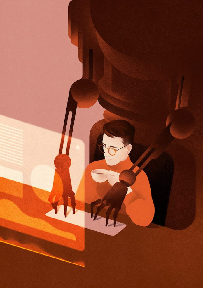 Illustration by Karolis Strautniekas made for Forbes Japan.
