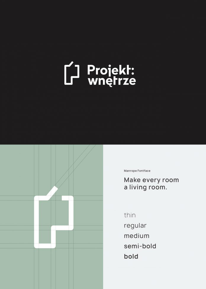 Logo design by Studio Sarna for Projekt: wnętrze.