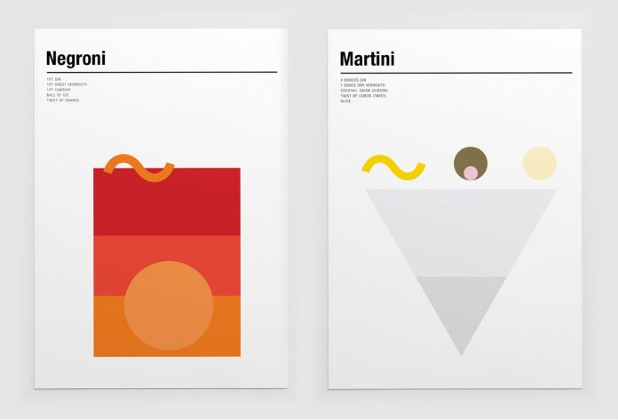 Minimalist Prints of Classic Cocktails by Nick Barclay