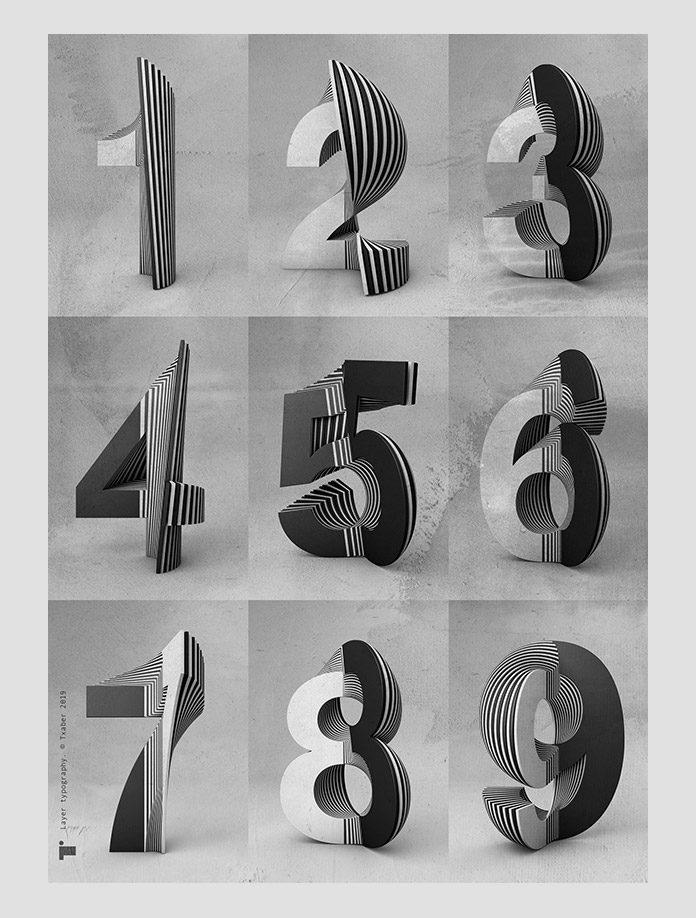 Experimental layer typography by Txaber Mentxaka.