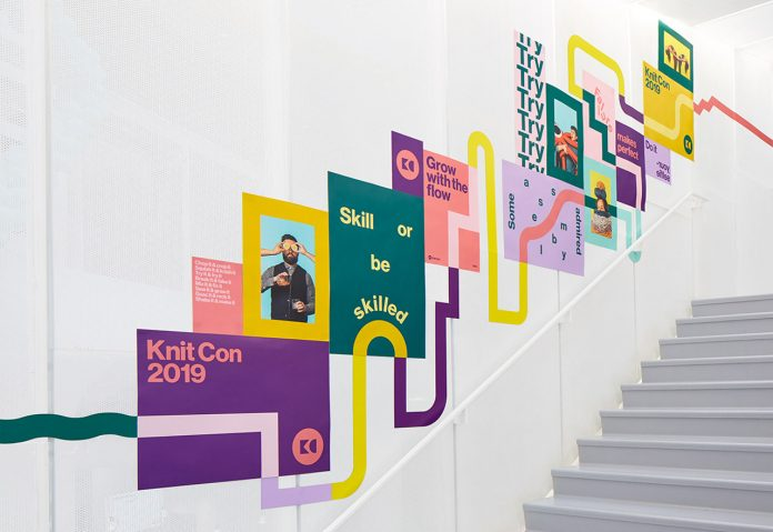 Pinterest Knit Con Event Branding by Hybrid Design.
