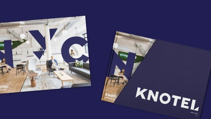 New brand identity and design ecosystem created by Elmwood New York for flexible workspace provider, Knotel.