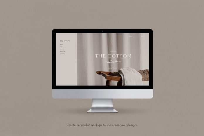 Create minimalist mockups to showcase your designs.