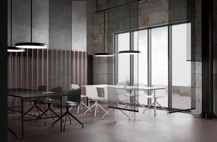 Coworking Space interior design by Binar studio.
