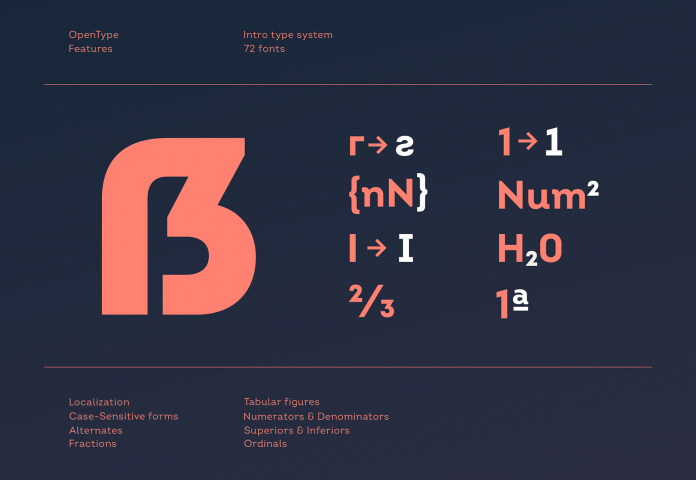 Intro font family from Fontfabric type foundry.