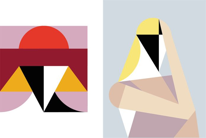Geometric illustrations by creanet.
