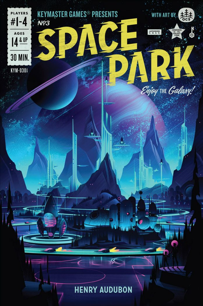 Space Park board game illustrations by Brian Miller.
