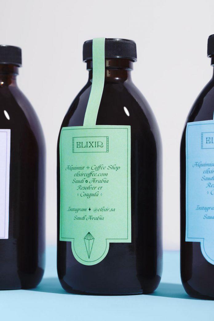 Elixir coffee brand identity by graphic design studio Futura
