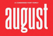 August typeface by Ellen Luff