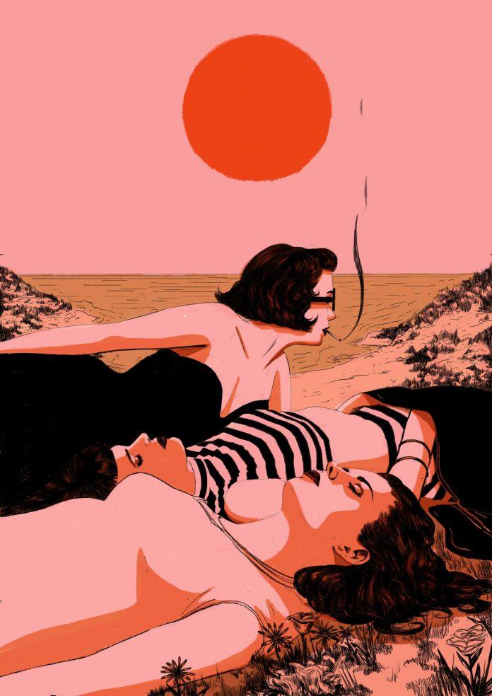 Beach: illustration by Nicole Rifkin