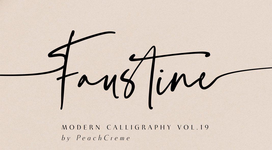 Faustine Script Font by Peach Creme