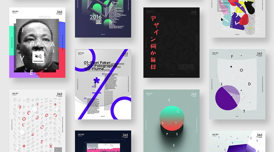 Graphic Designers on Instagram, Artworks from the Baugsm project by Vasjen Katro