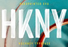 Hackney—hand-painted SVG font by Ellen Luff