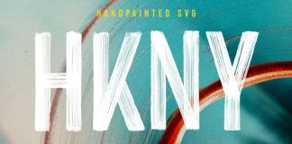 Hackney—hand-painted SVG font by Ellen Luff