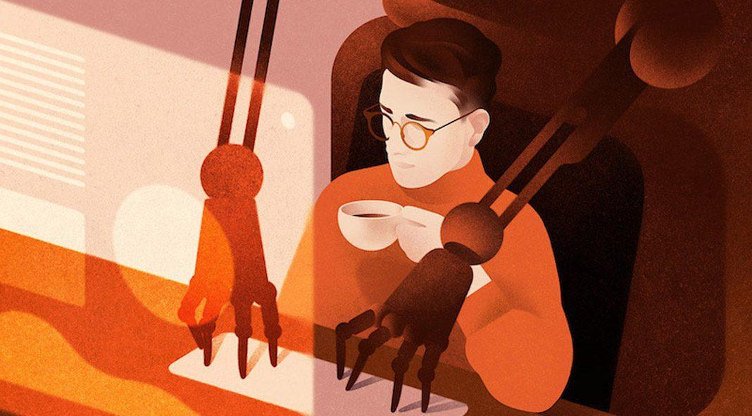 Illustrations by Karolis Strautniekas made for Forbes Japan