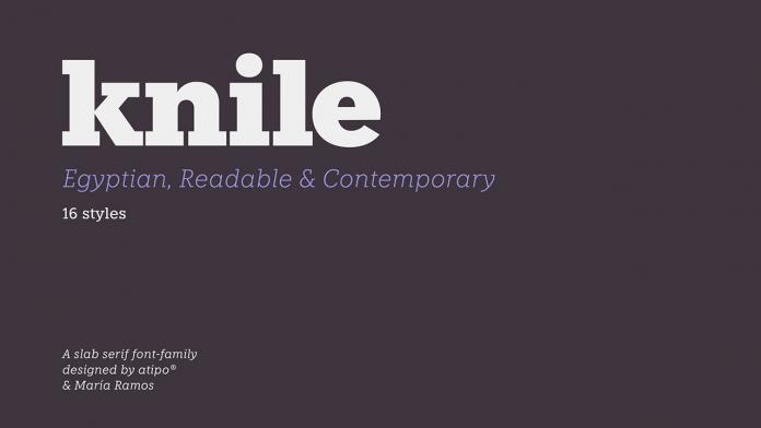 Knile font family (free regular & Italic style)