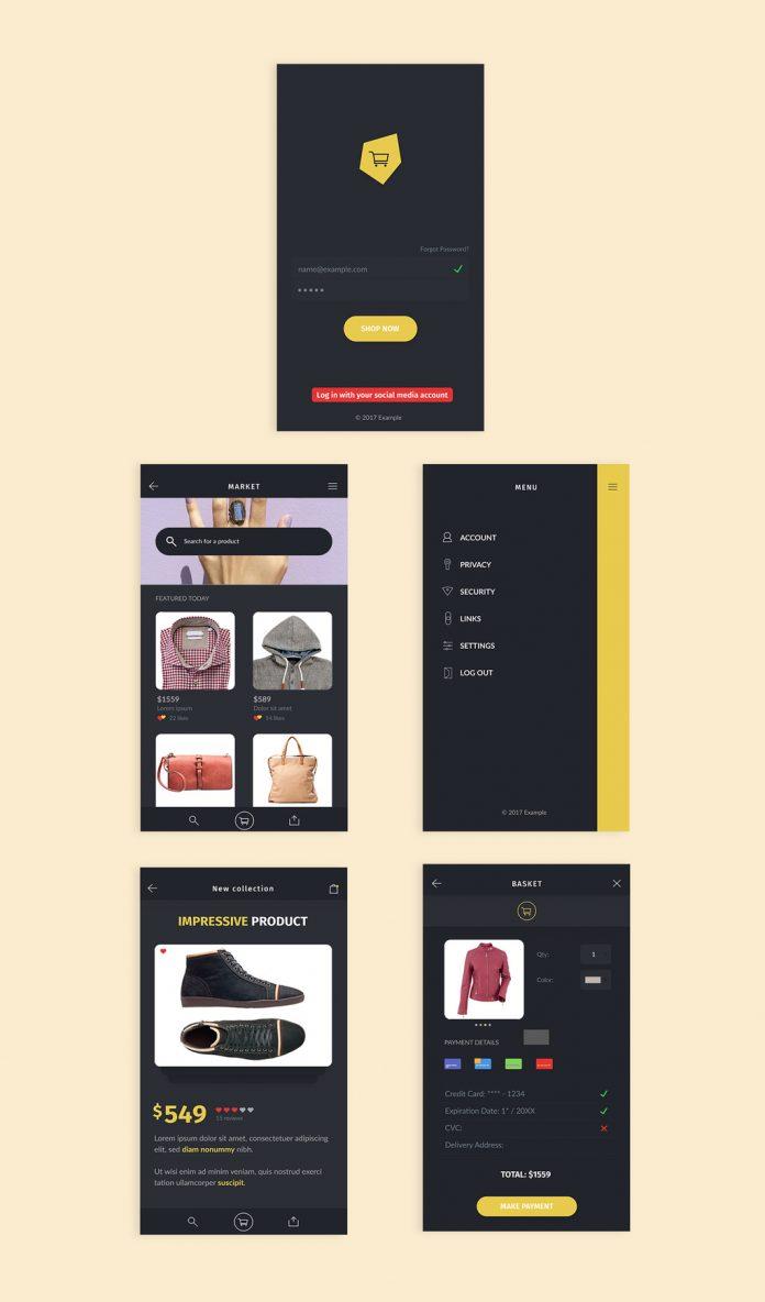 Market UI Kit by Darius Dan