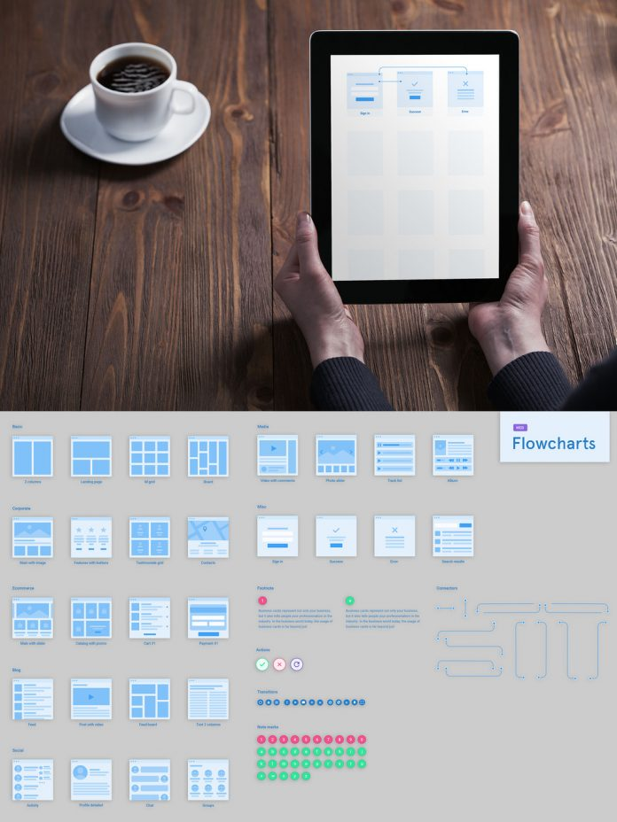 Platforma Web Flowcharts Kit by Great Simple