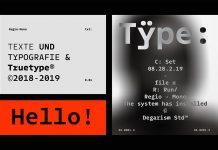 Regio Mono font family from Degarism Studio.