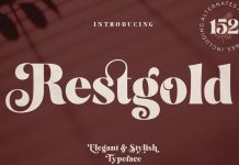 Restgold Font by Great Studio