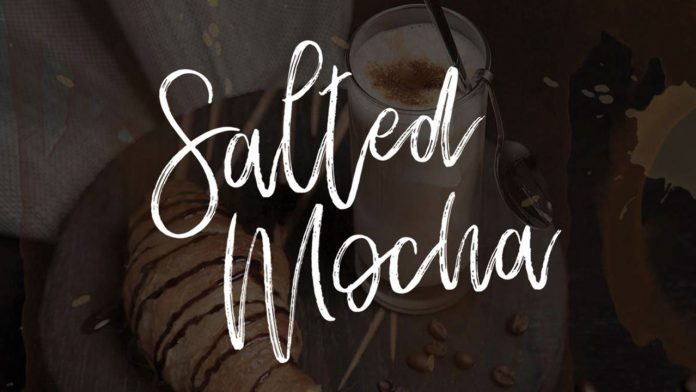 Salted Mocha brush script typeface