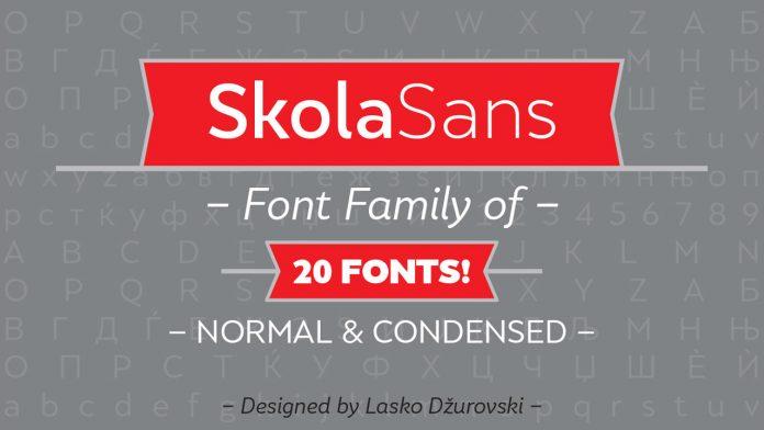 Skola Sans font family