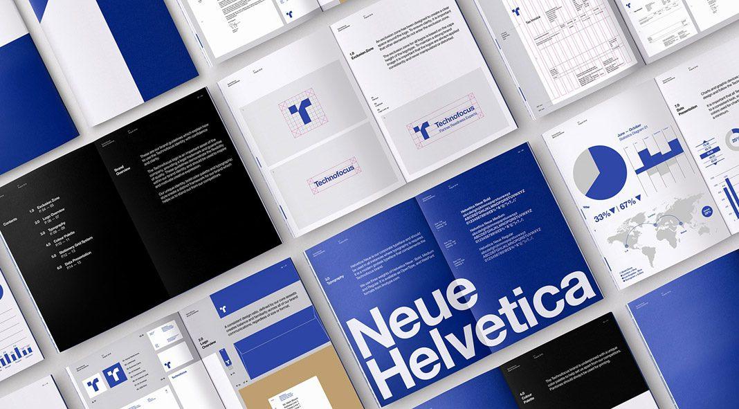 Technofocus branding by graphic designer Mark Bloom, also known as Mash Creative.