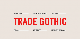 Trade Gothic Font Family from Linotype