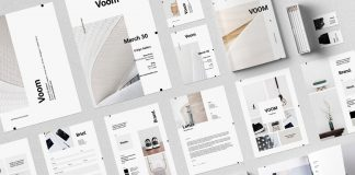Voom branding InDesign collection from Moscovita