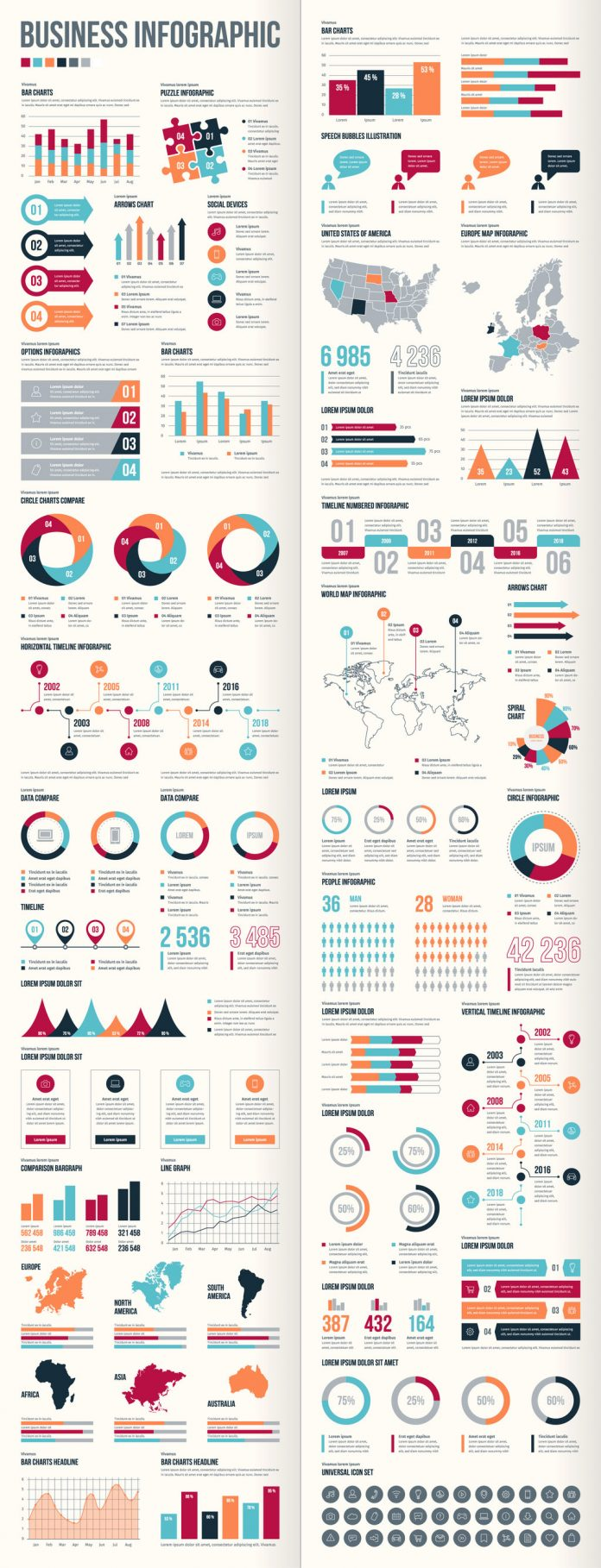 Adobe Stock Business Infographic Set by @Petr.