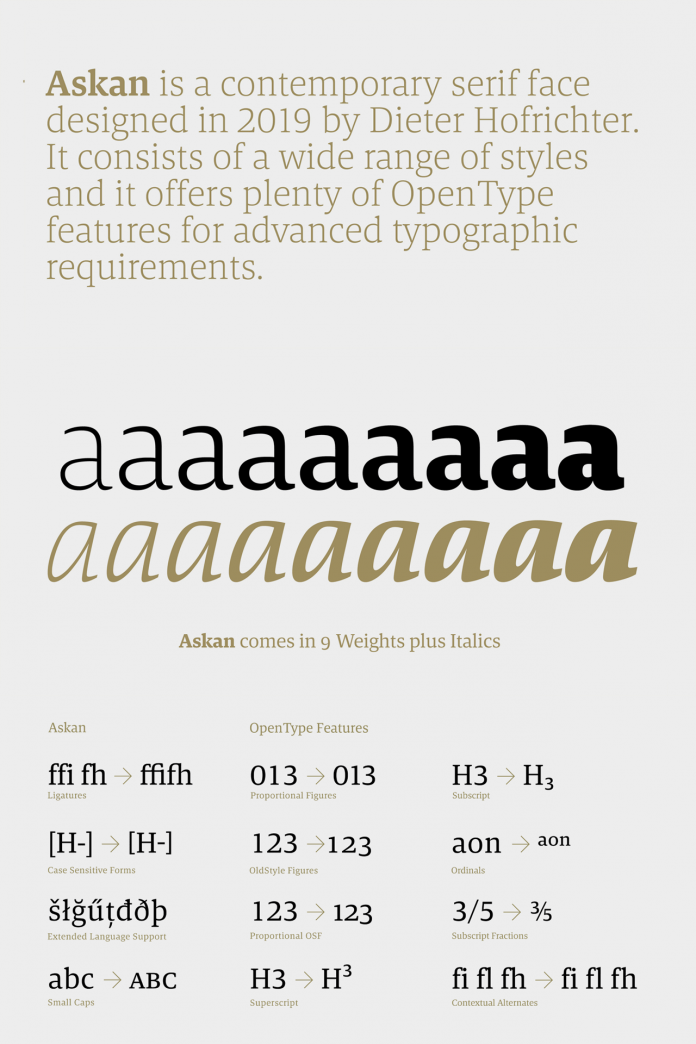 Askan Font Family from Hoftype
