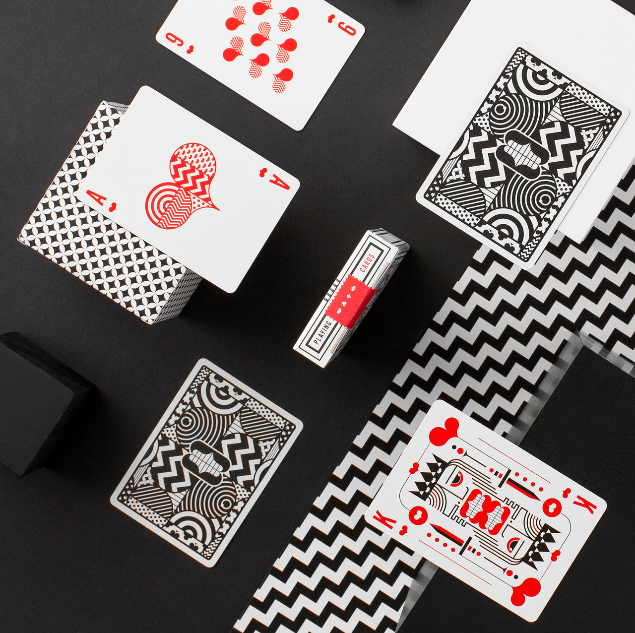 A rather crazy deck of playing cards designed by TRÜF in collaboration with Art of Play.