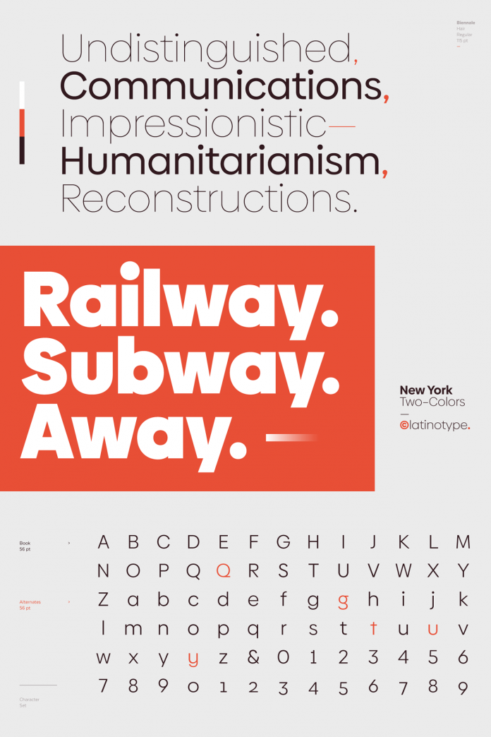 Biennale font family from Latinotype.