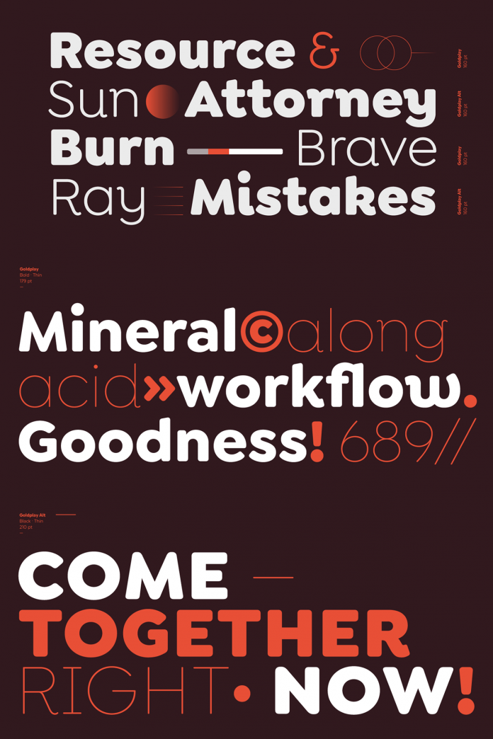 Goldplay font family from Latinotype.
