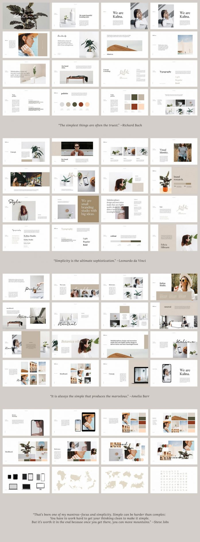 KALINA - Keynote and Powerpoint brand guidelines template