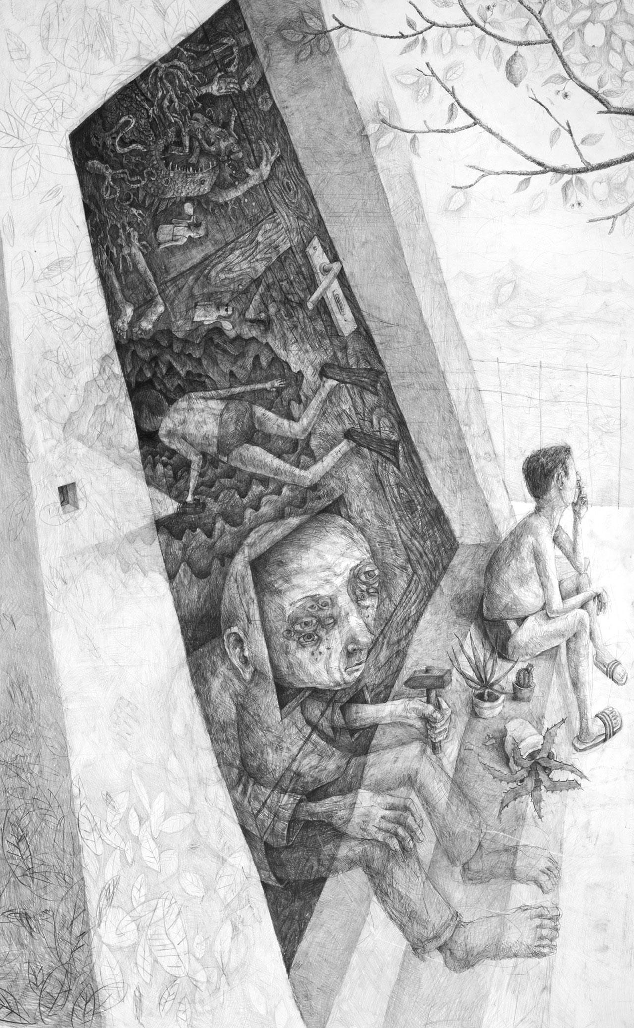 Drawing by Stefan Zsaitsits