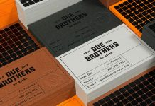 Due Brothers branding by David Mubien and Workshop Built Inc.