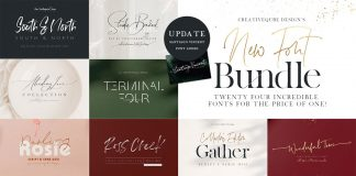 Font bundle from Creativeqube.