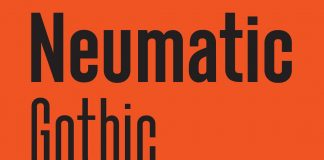 Neumatic Gothic font family by Andrew Footit of foundry Arkitype.