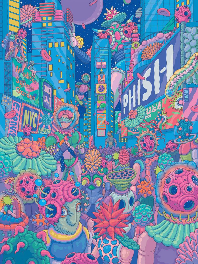 PHISH―MSG concert poster