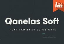 Qanelas Soft font family by Radomir Tinkov.