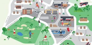 Rutgers University maps by Jing Zhang and James Wignall