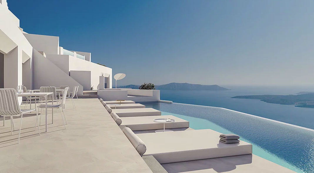 Luxury Hotel In Santorini Greece By Kapsimalis Architects