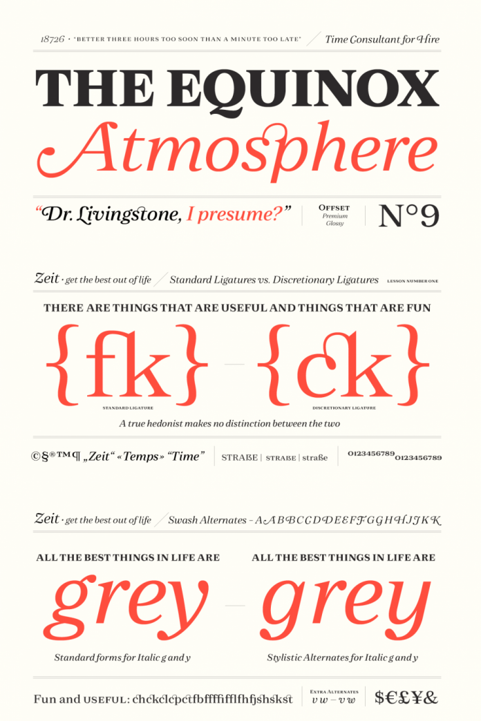 Zeit font family from Fenotype