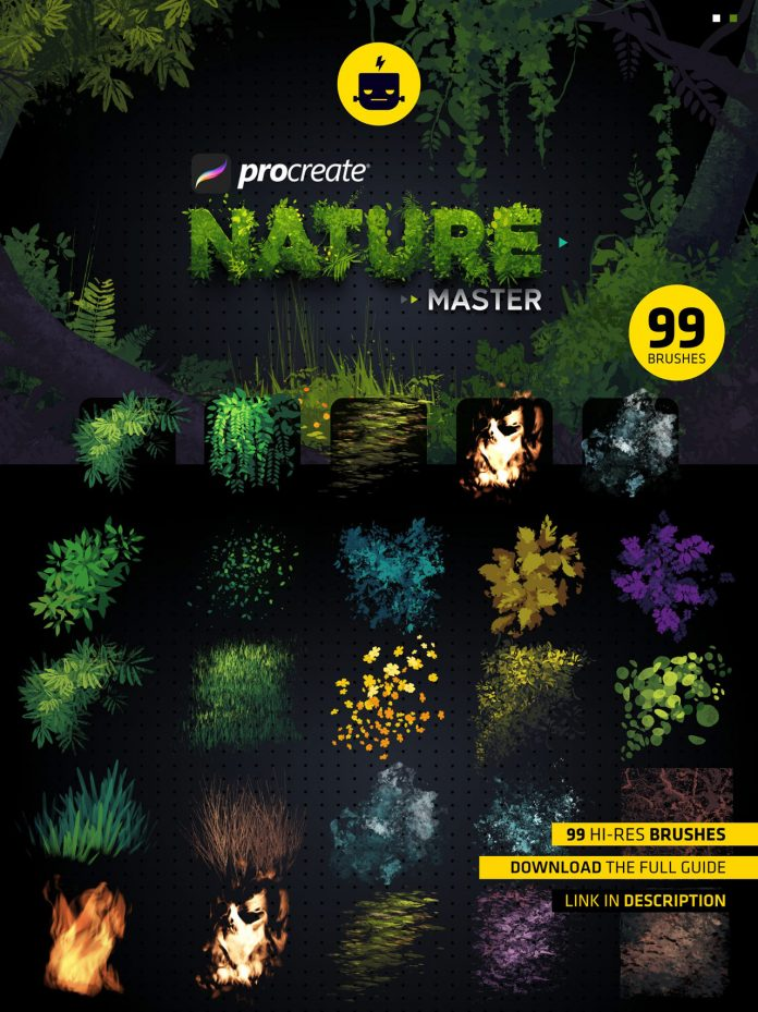 Nature Master collection for Procreate with 99 brushes.